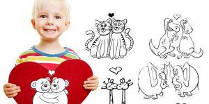 walentynki dla dzieci, chłopiec z sercem