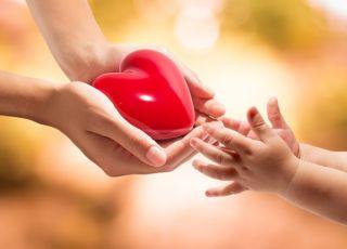 walentynki, walentynki z dzieckiem, serce, miłość