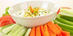 warzywa, dip, sos, potrawa, przekąska, kuchnia, jedzenie,
