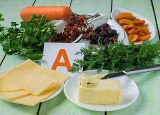 Warzywa, masło, witamina a, produkty bogate w witaminę a