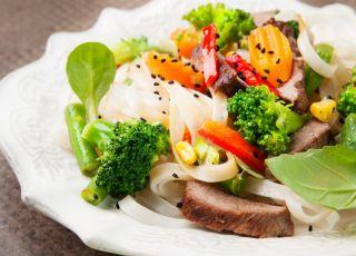 warzywa, mięso, pieczeń, fasolka, brokuły