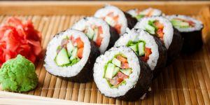 Warzywne sushi