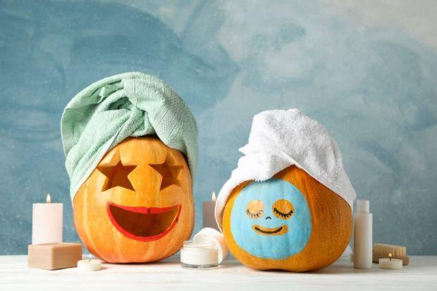 wesoła dynia na halloween wzór