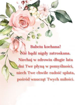 wierszyki na dzień babci - wierszyk 3