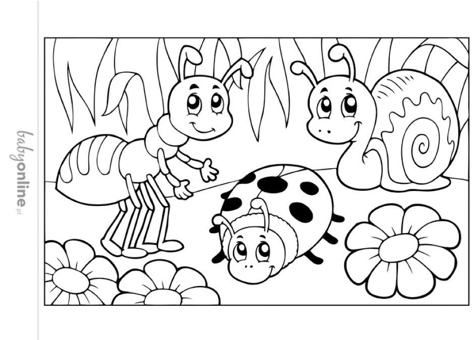 Wiosenne Kolorowanki Dla Dzieci Do Druku Strona 6 Mamotojapl