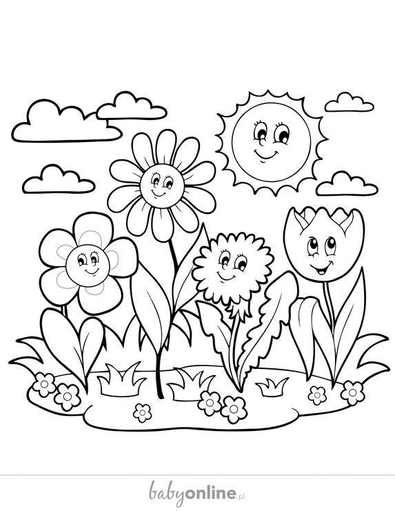 Kolorowanki Komiksy Do Druku Za Darmo Dla Dzieci I: Wiosenne Kolorowanki Dla Dzieci - Do Druku