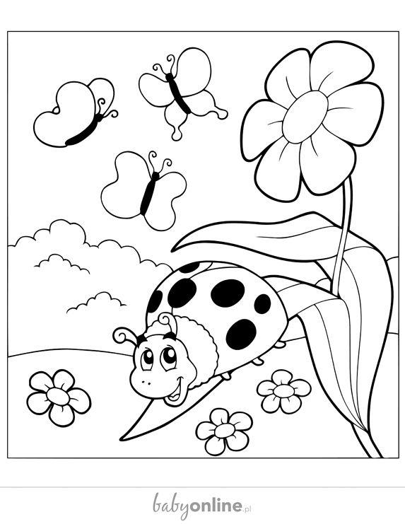 Wiosenne Kolorowanki Dla Dzieci Do Druku Strona 2 Mamotojapl