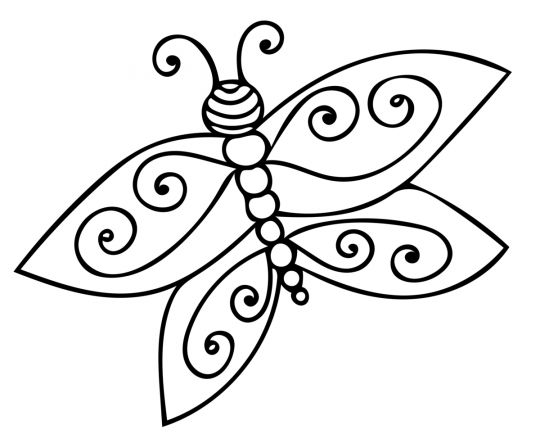wiosenne kolorowanki motylek łatwy