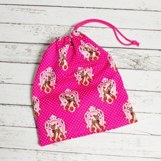 worek z bambi różowy na buty dawanda.pl.JPEG
