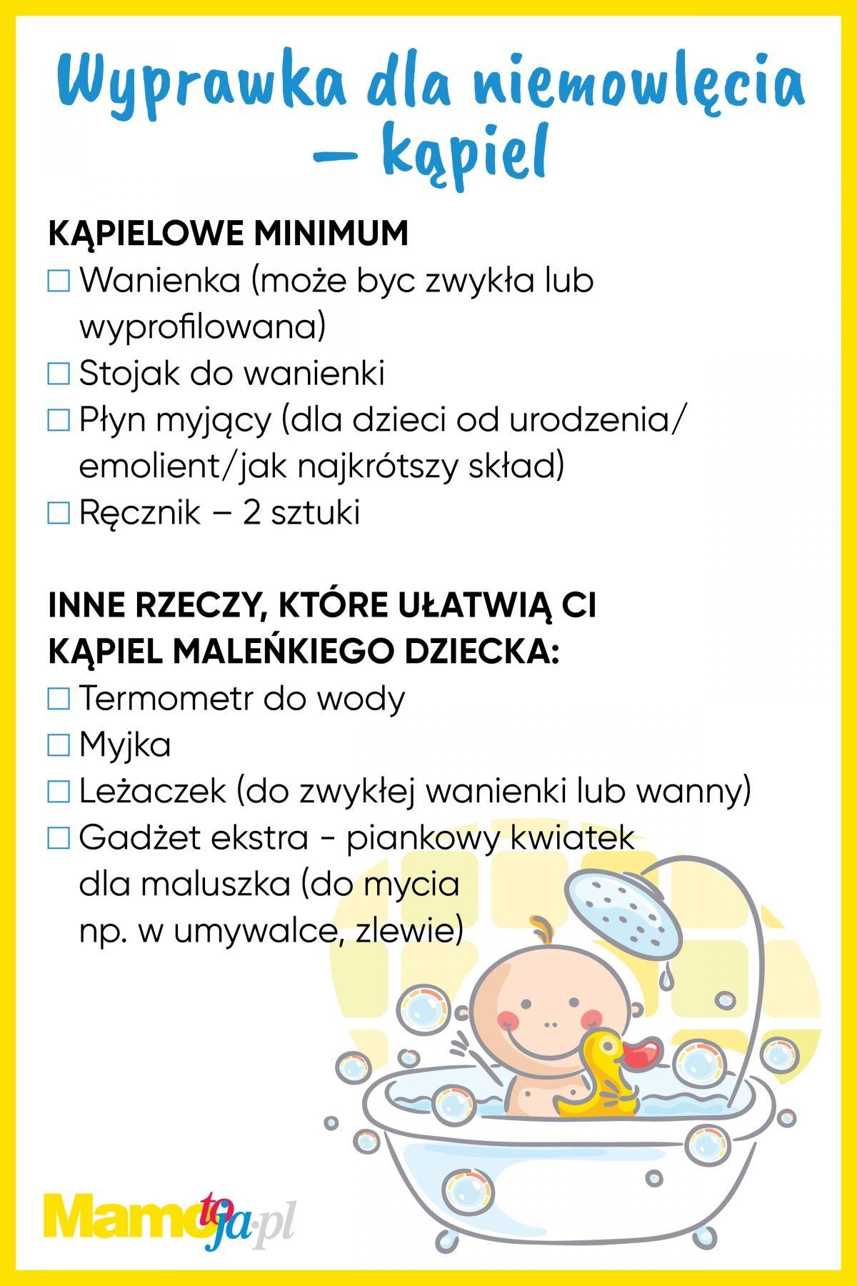 e8c9aecb1c7898 Wyprawka dla noworodka: co będzie potrzebne do kąpieli + lista do ...