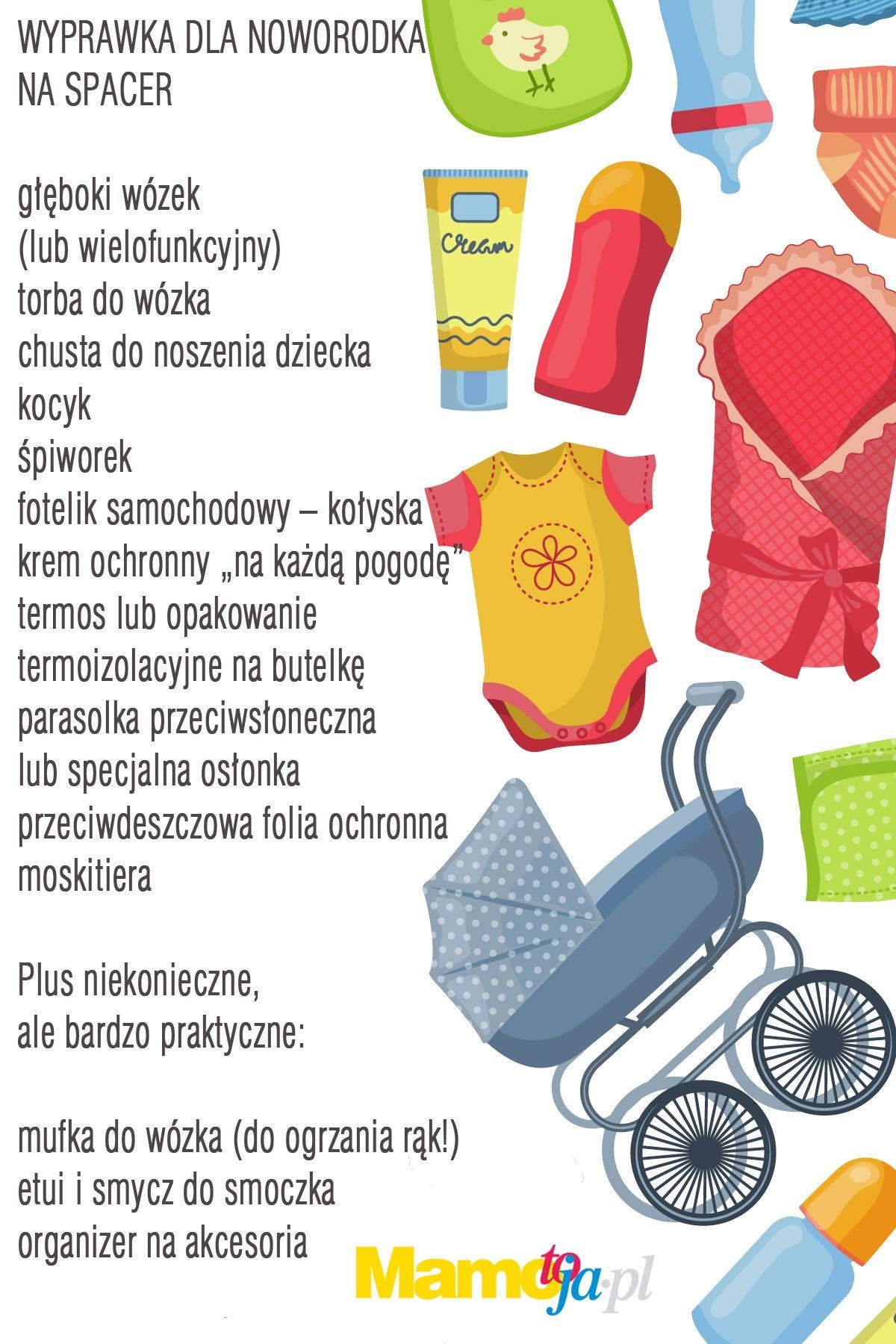 Zaawansowane Wyprawka noworodka: co się przyda na spacer + lista zakupów GN29