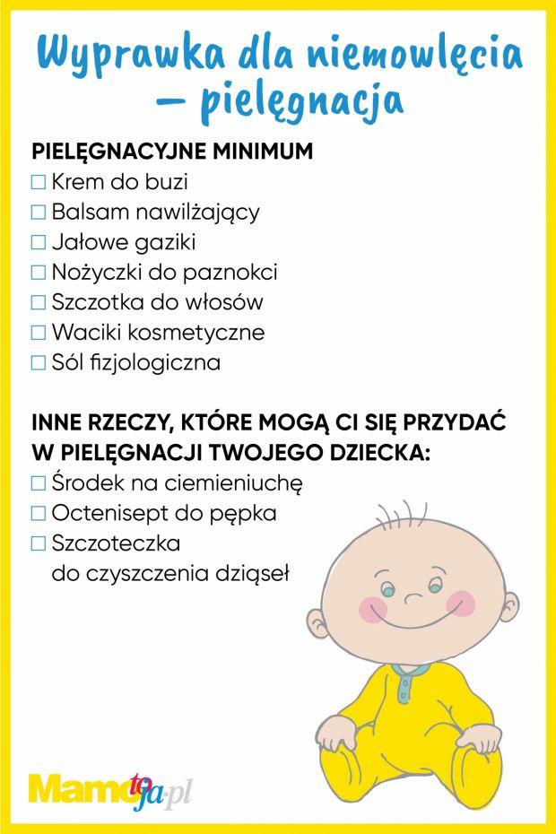 Wyprawka dla noworodka - pielęgnacja - lista zakupów do wydruku