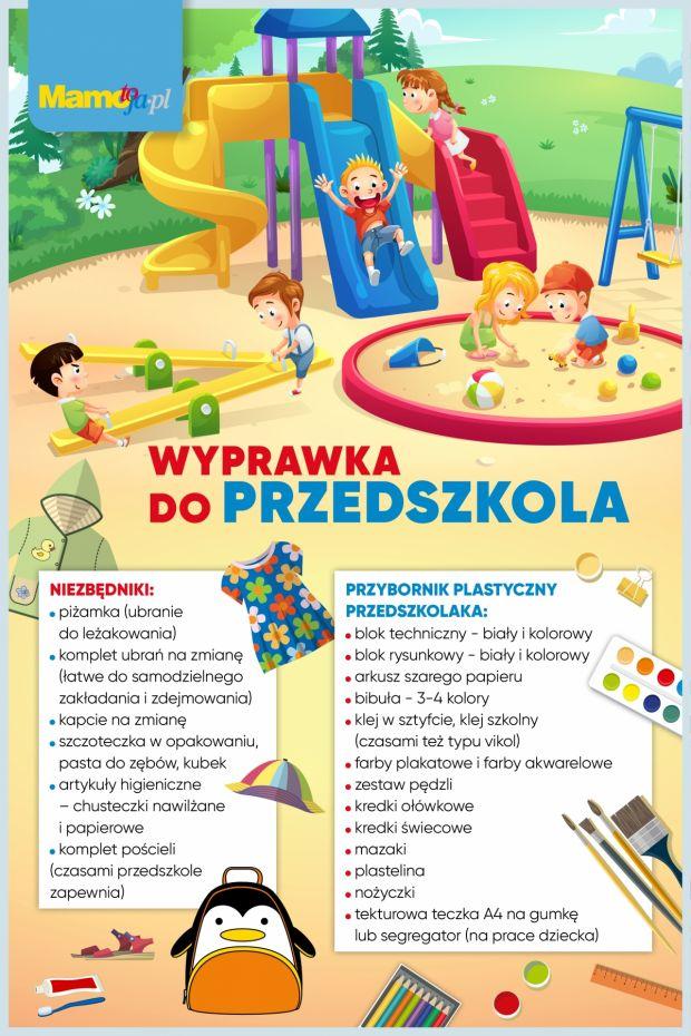 Wyprawka do przedszkola - pełna lista