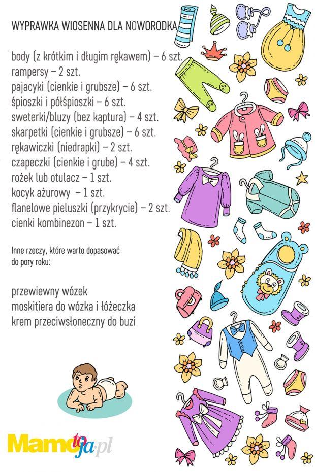Wyprawka na wiosne dla maluszka - lista do wydruku