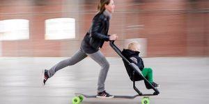 wózek, wózek z deskorolką, wózek dla dziecka, dziecięcy wózek