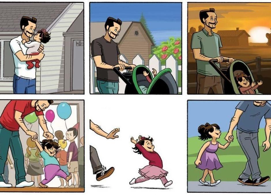 Wzruszający komiks o dorastaniu dzieci