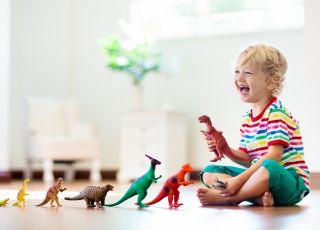 zabawa dinozaurami