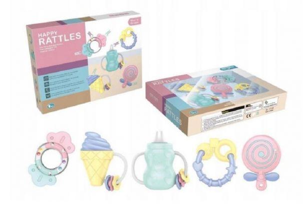 Zabawki dla 3-miesięcznego dziecka - zestaw gryzaków