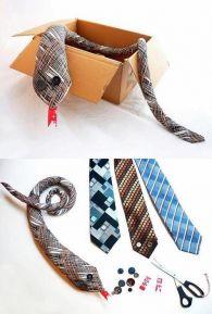 jesienne zabawy dla dzieci - węże z krawatów