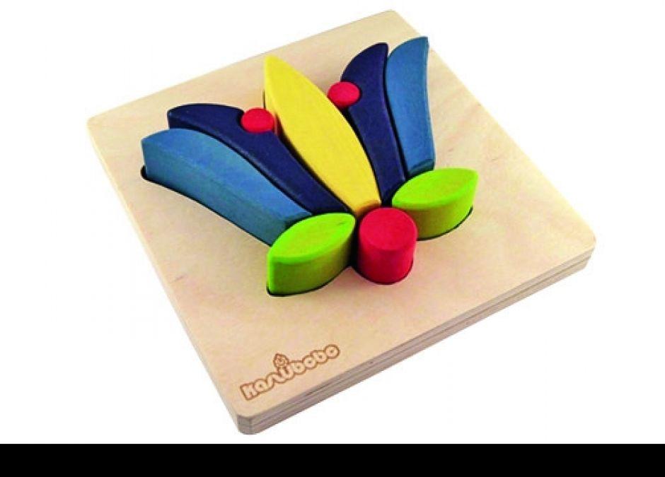 zabawki drewniane z kaszubskim motywem, układanka dla dzieci