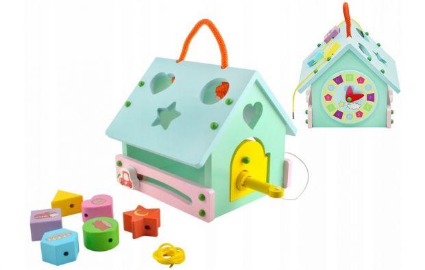 zabawki edukacyjne dla 3 latka drewniany sorter domek