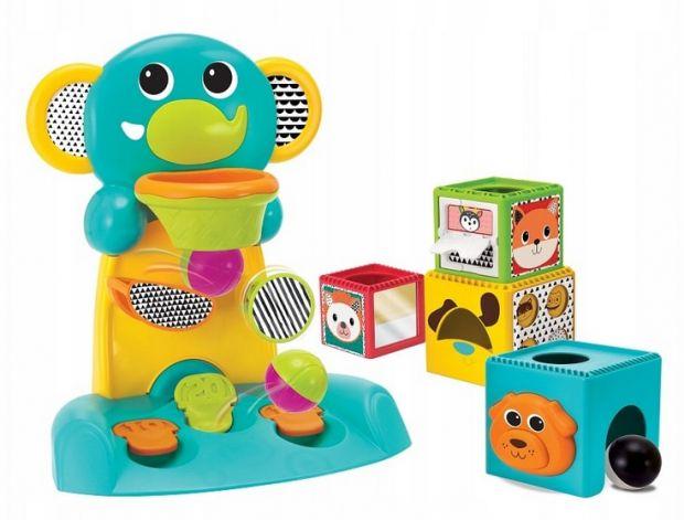 słonik z piłeczkami dla rocznego dziecka