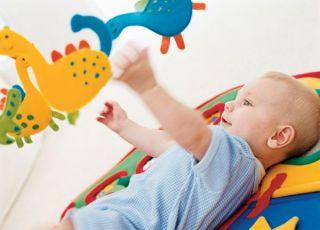 zabawki, niemowlę, karuela