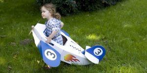 zabawki z tektury i kartonu - samolot Trzy myszy