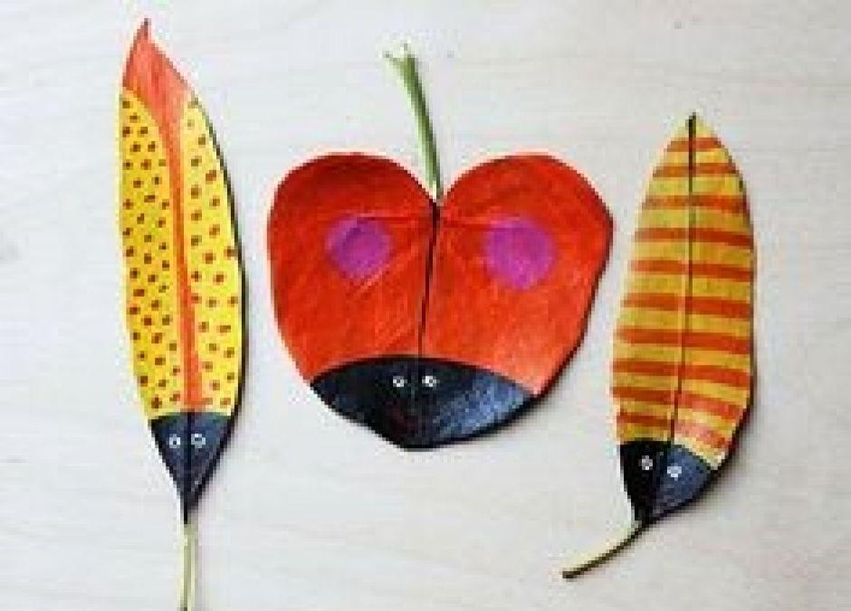zabawy plastyczne - liście