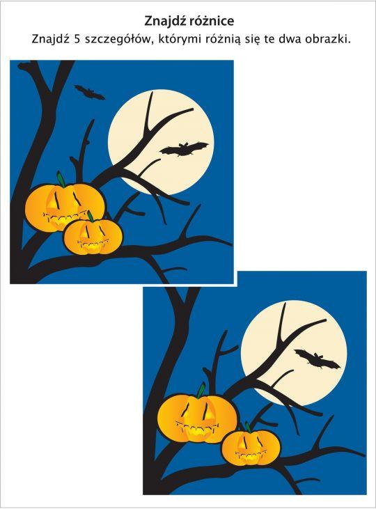 zagadka Halloween: znajdź 5 różnic między obrazkami