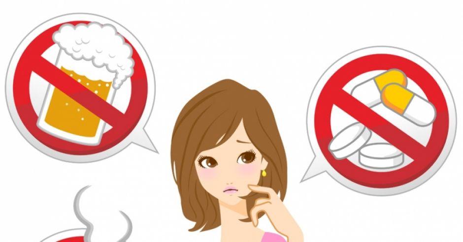 zakazane w ciąży, zagrożenia w ciąży, ciąża