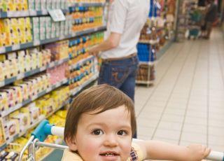 zakupy, wózek, niemowlę