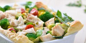 zapiekanka, zapiekanka rybna, ryba, zapiekanka warzywna
