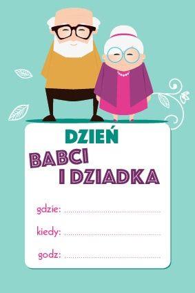 zaproszenie na Dzień Babci i Dziadka wzór 2