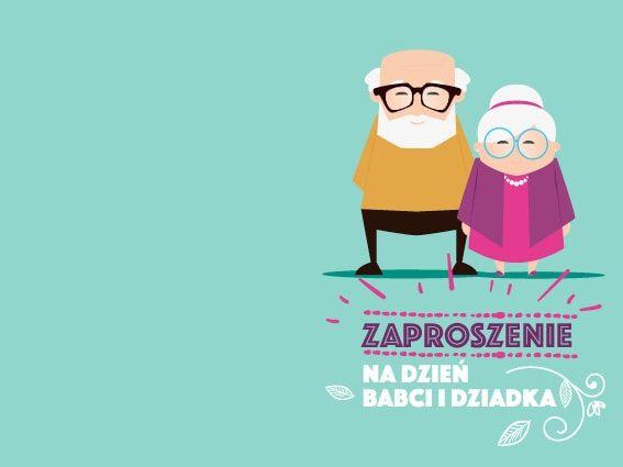 zaproszenie na Dzień Babci i Dziadka wzór 4