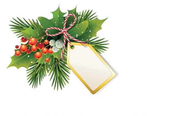 zawieszki na prezenty świąteczne do druku: gałązka