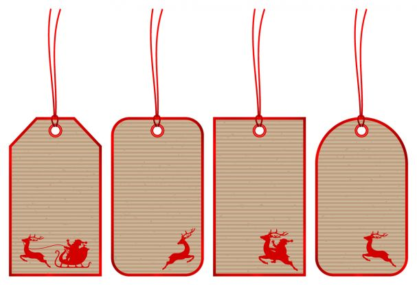 zawieszki na prezenty świąteczne do druku: renifer