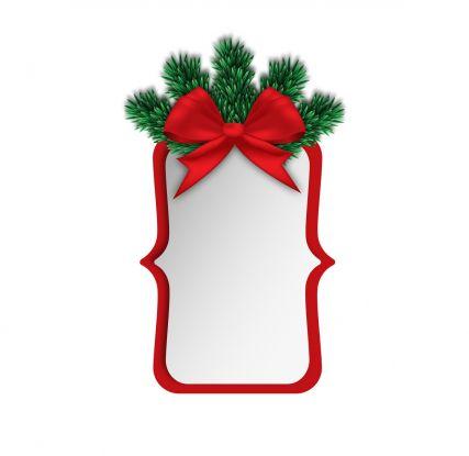 zawieszki na prezenty świąteczne do druku: kokarda