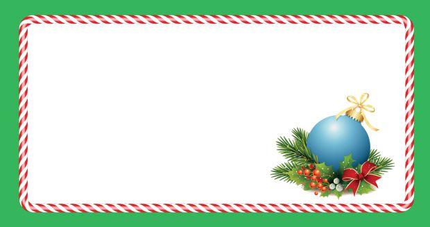 zawieszki na prezenty świąteczne do druku: niebieska bombka
