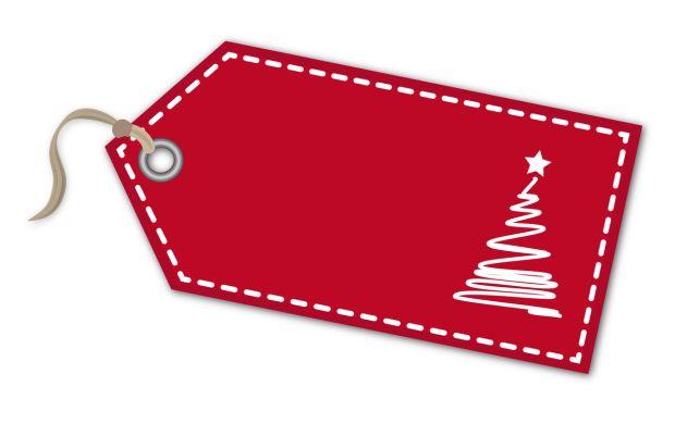 zawieszki na prezenty świąteczne do druku: choinka