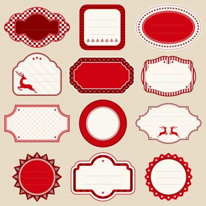zawieszki na prezenty świąteczne do druku: czerwone