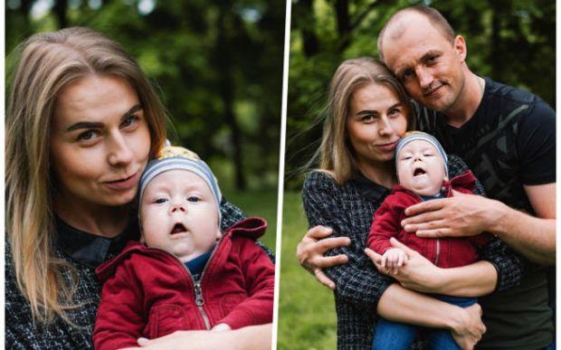Kirill z rodzicami
