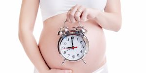zegar, zegarek, budzik, brzuch, kobieta, ciąża