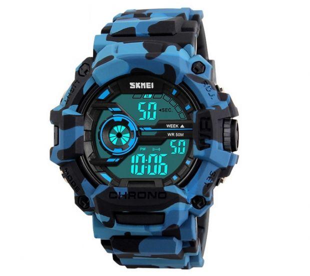 zegarki dla dzieci elektroniczne Skmei Camouflage