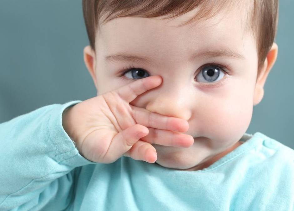 Zielony katar u dziecka