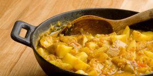 ziemniaki, soczewica, potrawa, jedzenie, kuchnia