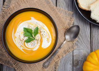 złocista zupa z dyni