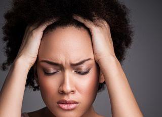 zmęczenie, kobieta, ból głowy