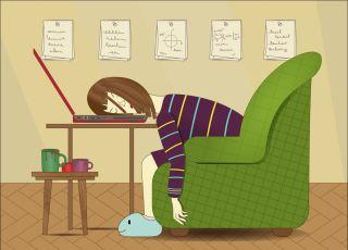 Zmęczona mama zasnęła na klawiaturze