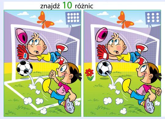 znajdź różnice dla dzieci football